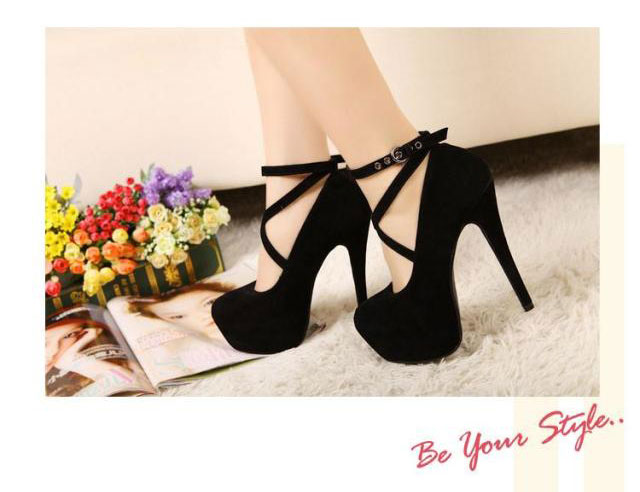 High Heel Shoes Black