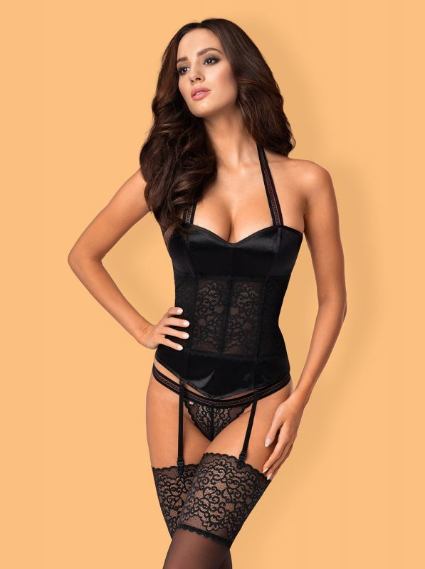 Obsessive Ailay corset and thong black