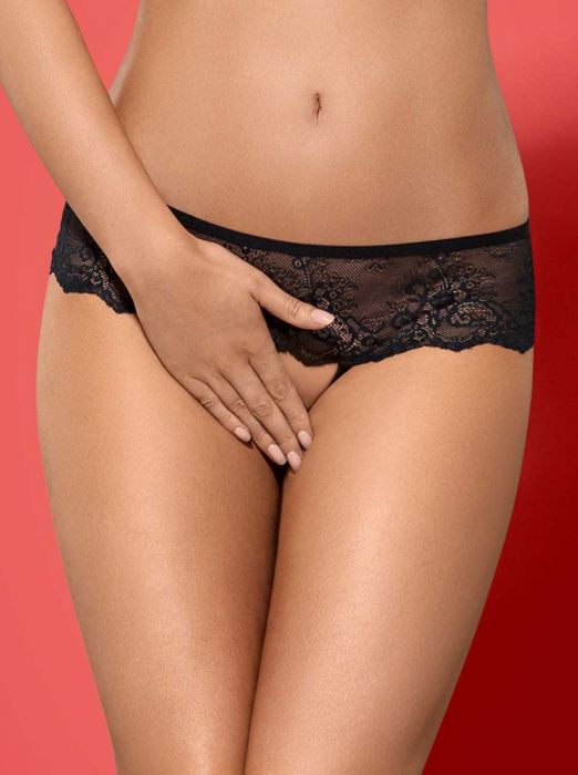 Obsessive Merossa crotchless panties black
