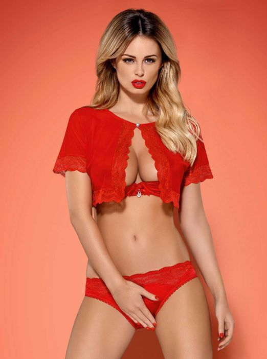 Obsessive Lovica set 3-pcs red