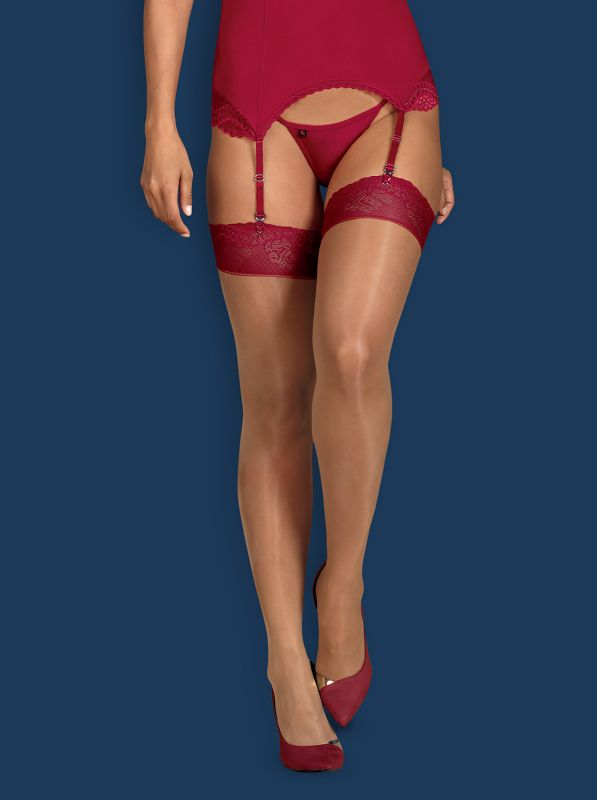 Obsessive Rosalyne stockings red
