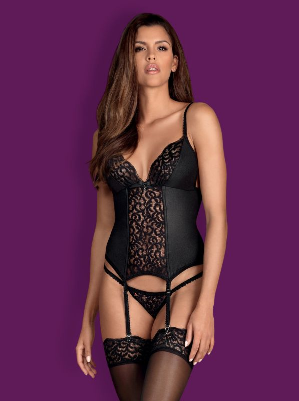 Obsessive Laluna corset and thong black