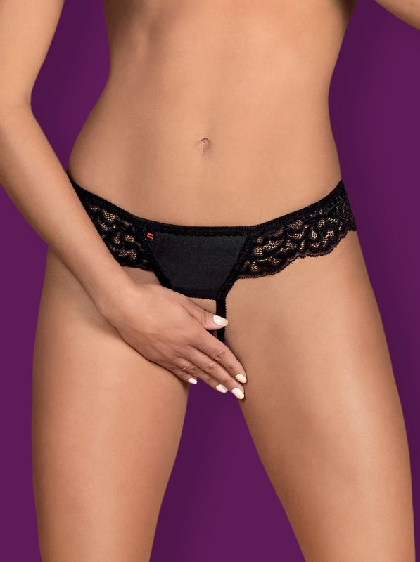 Obsessive Laluna crotchless panties - MINI black