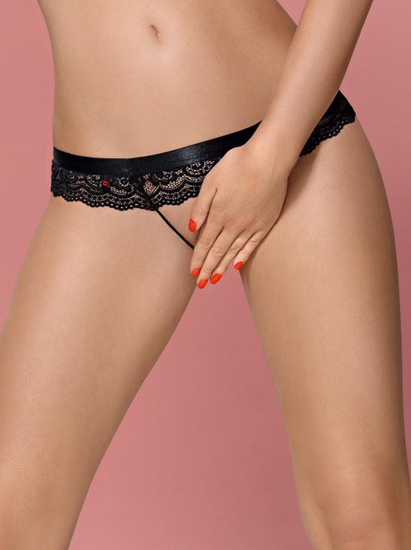 Obsessive 854-PAC-1 crotchless panties black