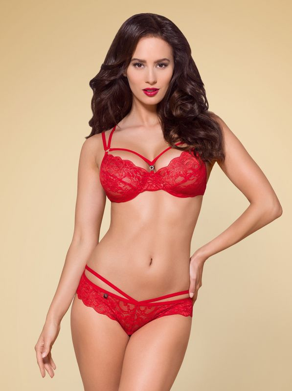 Obsessive 860-SET-3 2 pcs set red