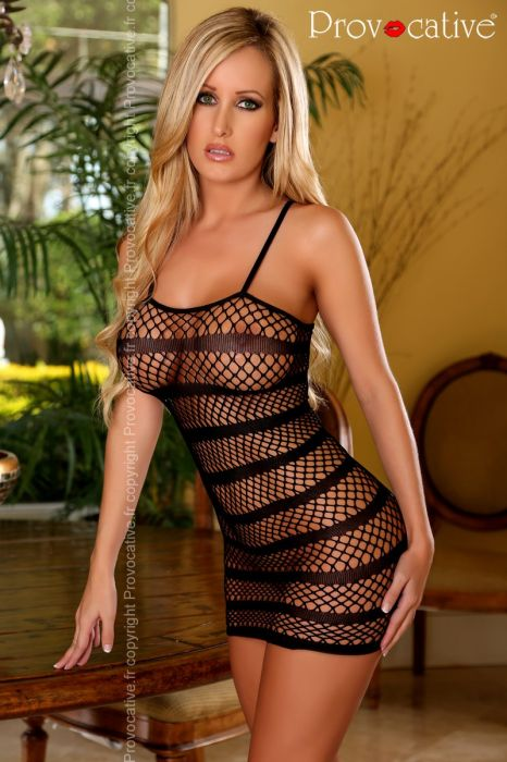 Provocative Sexy Dress Black