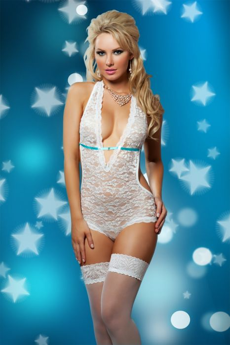 Lace Teddy white