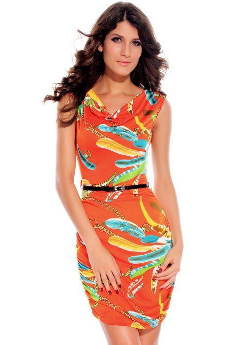 Joyce Orange Clubwear, Include the Belt