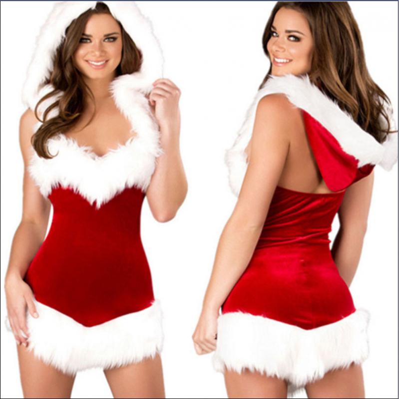 Sexy Christmas Velvet Babydoll