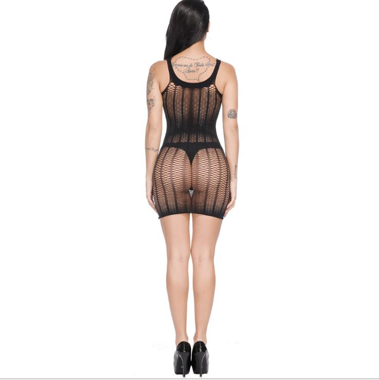 Sexy Net Mesh Mini Dress Black