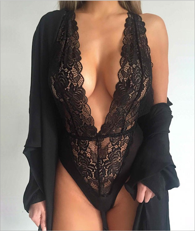 Sexy Lace Teddy Black