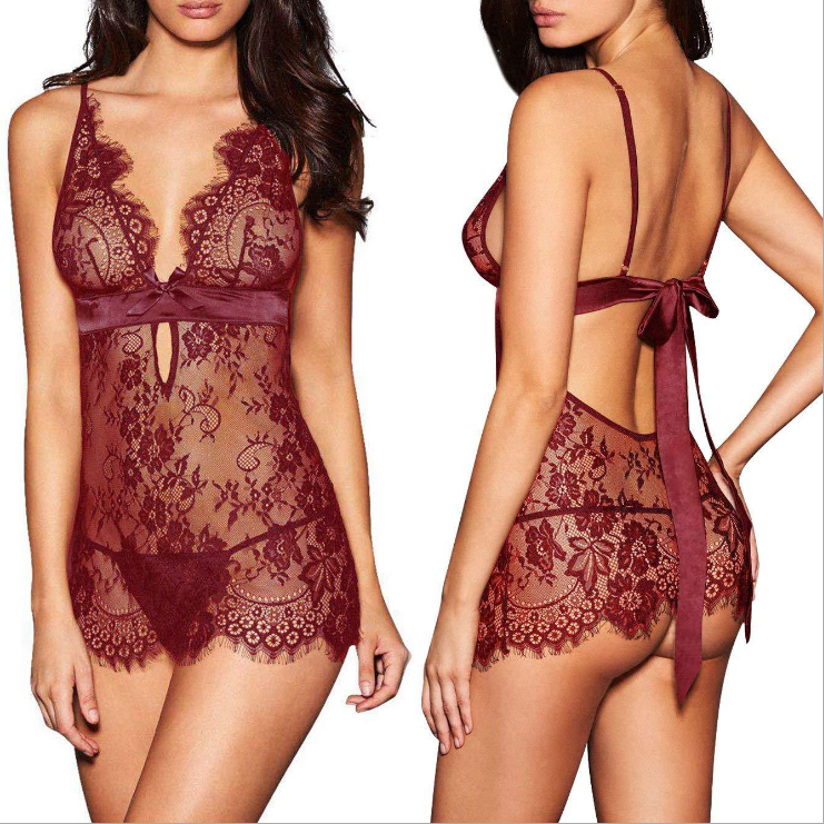 Babydoll Lace WineRed