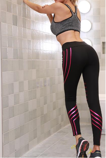 Sporty Leggings Black/Rose