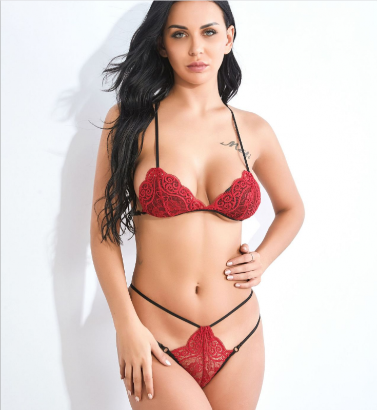 Sexy Lace Set Red