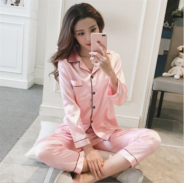 Satin Set Pyjamas Pink