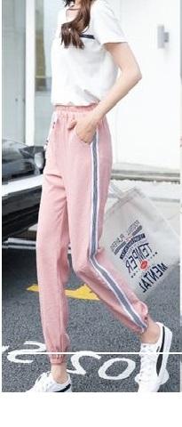 Sporty Stripe Pink Leggings