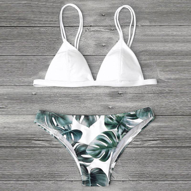 Tropical Bikini White