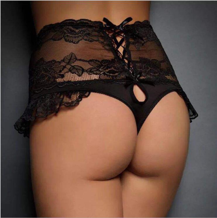 Lace Pantie Black