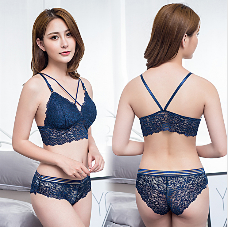 Sexy Lace Set DarkBlue