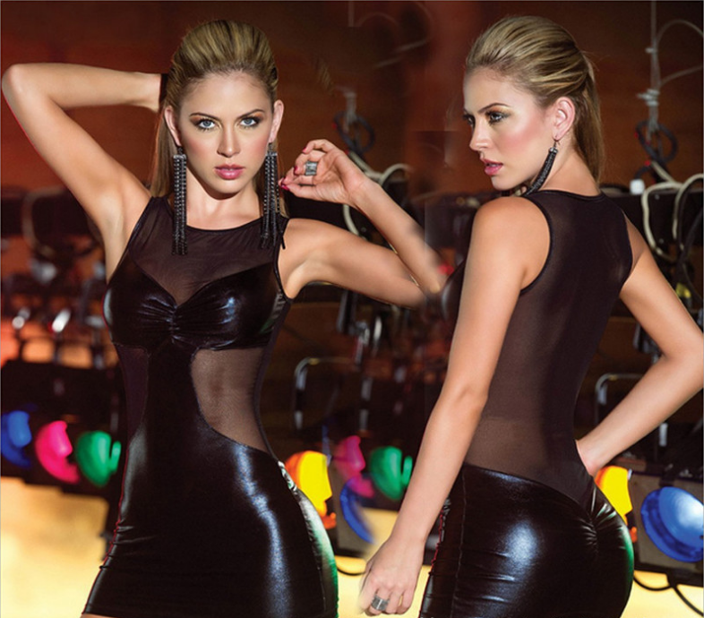 Sexy Mini Leather Dress