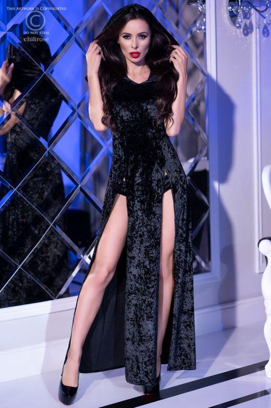 Chilirose Black Hood Dress