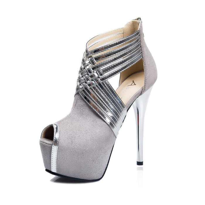 High Heel Shoes Grey