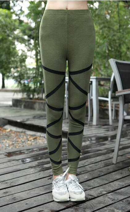 Stripes Green Leggings