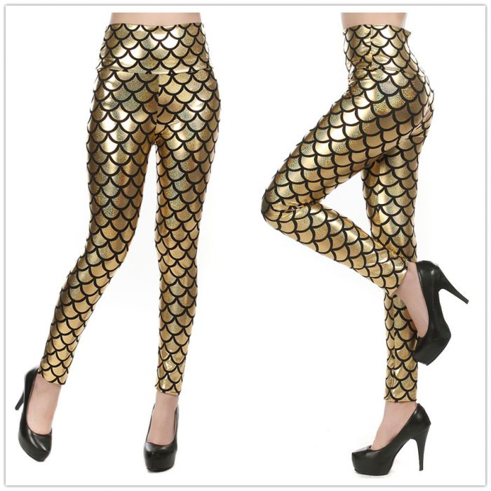 Mermaid Leggings Gold