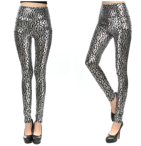 Print Leggings Silver