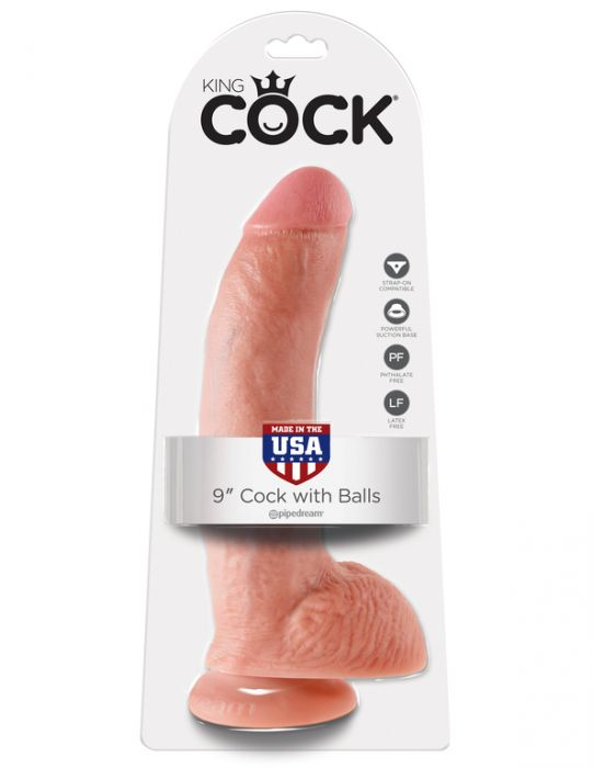King Cock 9 Cock with Balls Flesh