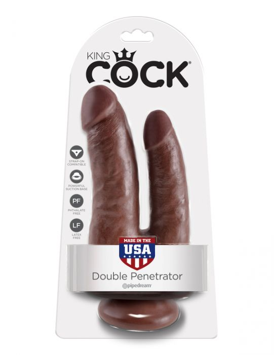 King Cock Double Penetrator Brown