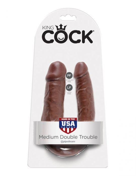 King Cock U-Shaped Medium Double Trouble Brown