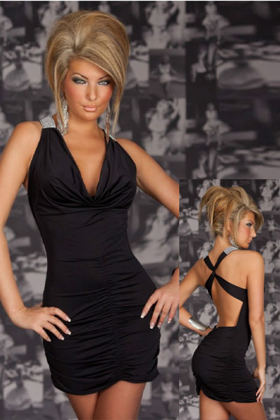 Sexy Stretchy Clubwear Black