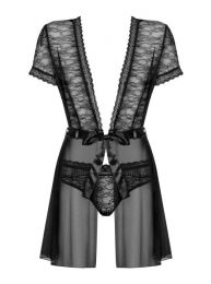 Obsessive Swanita robe and panties black