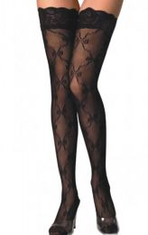 Net Stockings with Lace