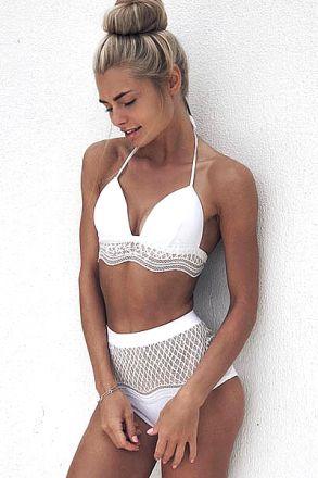 Retro Brazilian Bikini White