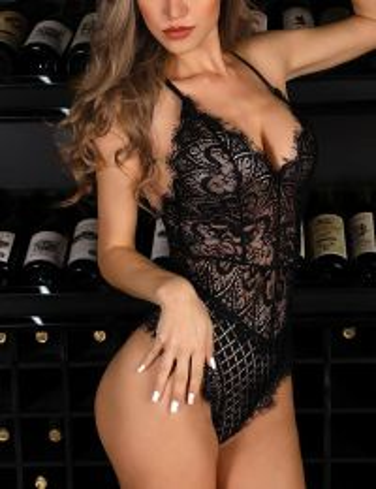 Sexy Lace Teddy Black