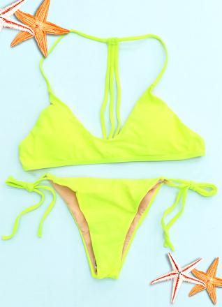 Fluo Brazilian Bikini Green