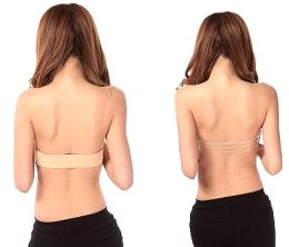 Strapless Push Up Bra Silicone Nude