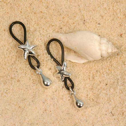 Bijoux seins Etoiles de mer col argent