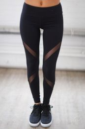 Sporty Black Leggings