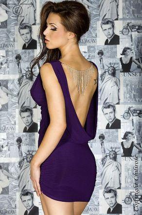 Chilirose Purple Dress with Jewelry