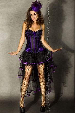 Chilirose Black/Purple Skirt with Threnody