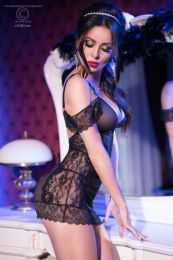Chilirose Black Chemise and String