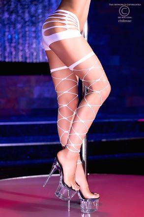 Chilirose Neon-White Stockings