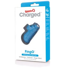 The Screaming O - Charged FingO Finger Vibe Blue