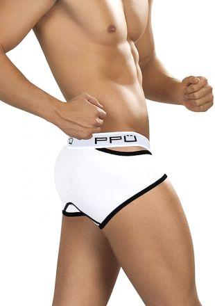 PPU Men's Underwear - Polyester Lycra Brief Black