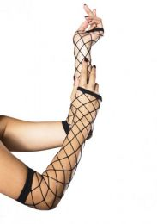 Leg Avenue Fingerless Gloves black