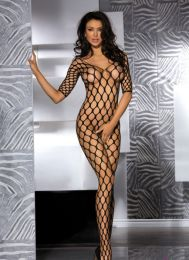 Sexy Fence Net Garter Holes Bodystocking