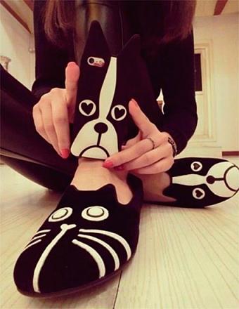 Flat Shoes Cat-Dog